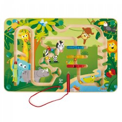 Wooden Jungle Magnetic Maze With Magnetic Wand