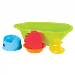 Miniland Doll Bathtub with Accessories Set - 5 Piece Set