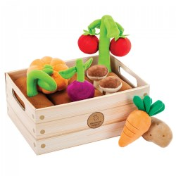 Veggie Garden With Soft Colorful Plush Vegetables