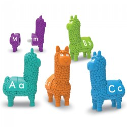 Snap Together Letter Llamas - Letter and Color Matching Fine Motor Activity