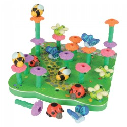 Flowers Peg Garden - Stacking, Matching, Fine Motor Skills