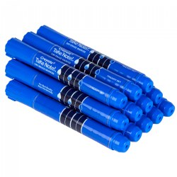 Take Note Dry Erase Broad Line Markers - Blue - Set of 12