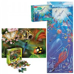 Discover New Places 100 Piece Floor Puzzles - Set of 2