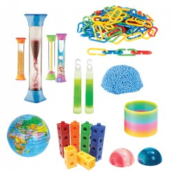Children's Sensory Fidget Toy with Multiple Calming Tubes
