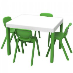 Ergos Green Table with 4 Chairs