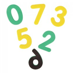 Magnetic Foam Numbers - Set of 60