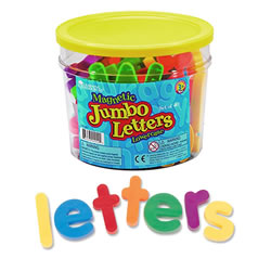 "3 years & up. These magnetic lowercase letters are ideal for magnet play and early language practice. Great for use in conjuction with a magnetic chalkboard. Set of 40 letters are 2 1/2"" high and are packaged in a storage bucket."