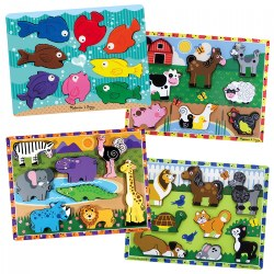 Chunky Puzzle Set 1 - Set of 4 Puzzles