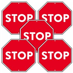 Stop Sign Poster - Set of 5