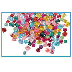 Image of Acrylic Gemstones - 1 lb.