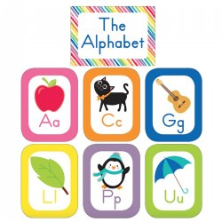 Alphabet Cards Bulletin Board Set Grades PreK - 2 - 27 Pieces