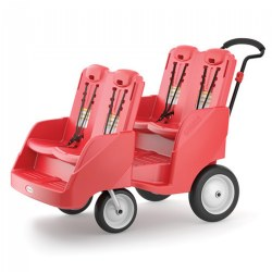Parade 4 Child Stroller - Red