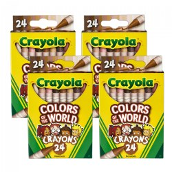 Crayola® Colors of the World 24-Count Crayons - Set of 4