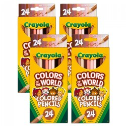 Crayola® Colors of the World 24-Count Colored Pencils - Set of 4