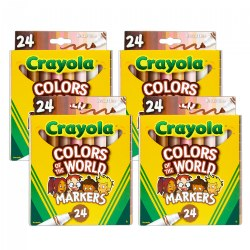 Crayola® Colors of the World 24-Count Markers - Set of 4