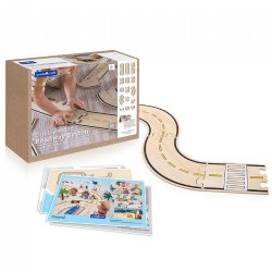 Double-Sided Roadway System - 42 Piece Set