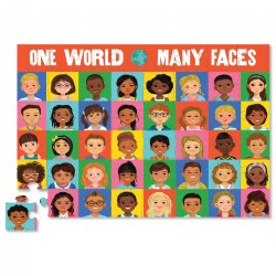 One World Many Faces Memory Game and Puzzle