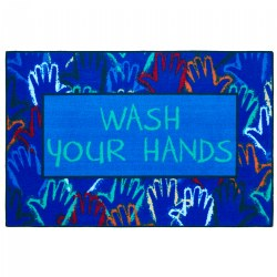 Wash Your Hands Health & Safety Carpet 3'x4'6""