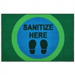 Sanitize Here Dot Health & Safety Carpet
