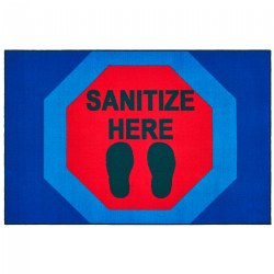 Sanitize Here Stop Sign Health & Safety Carpet