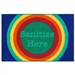 Rainbow Dot Sanitize Health & Safety Carpet 3' x 4'6""