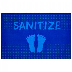 "Stand & Sanitize Health & Safety Carpet 3' x 4'6"" - Blue"