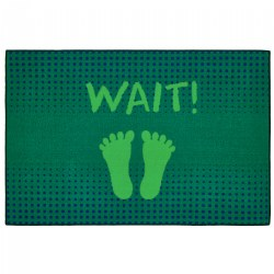 "Stand & Wait Health & Safety Carpet 3' x 4'6"" - Green"