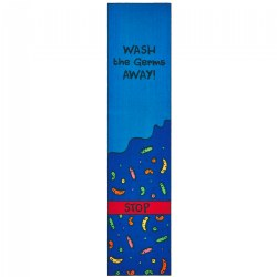 Wash the Germs Away Health & Safety Carpet Runner 3' x 12'