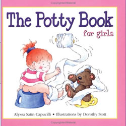 The Potty Book For Girls - Hardback