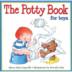 The Potty Book For Boys - Hardback