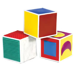 Infant and Toddler Soft Tactile Blocks - Set of 3