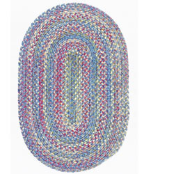 Botanical Isle Oval Braided Rug - 8' x 11' - Oasis Blue