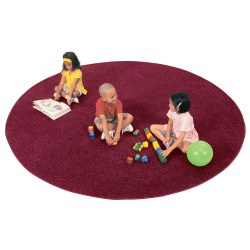 Solid Color Round Carpets