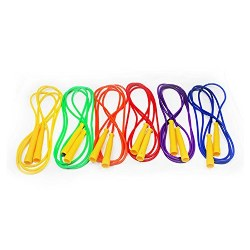 8' Speed Jump and Activity Ropes - Set of 6 Different Colors