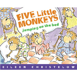 Five Little Monkeys Jumping On The Bed - Board Book