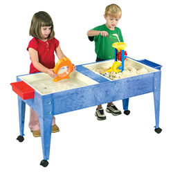 Double Tray Sand & Water Table - Blue