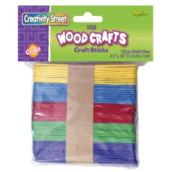 Colored Craft Sticks - 150 Pieces