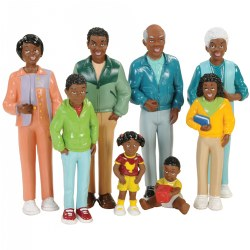 Block Play Family Play Set - African-American