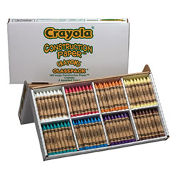 Crayola® Construction Paper Crayons Classpack - Large (160-Count, 8 Colors)