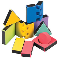 3 years & up. Unique 3 dimensional magnetic construction blocks incorporate colorful shapes for endless creations. Comes in a plastic storage jar. Includes 81 pieces.