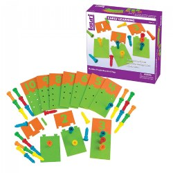 Number Puzzle Board & Pegs For Early Number Recognition