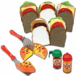 Pretend Play Pizza & Make Your Own Sandwich Shop