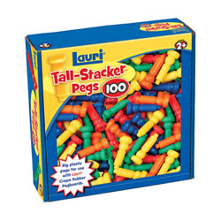 Tall-Stacker™ Pegs for Building and Sorting - Pack of 100