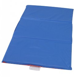 "3-Fold 1"" Germ Guard™ Folding Rest Mat - Red/Blue - Single"