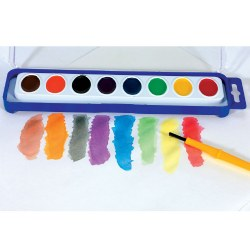 8 Color Washable Watercolor Paint Trays (12 Trays)