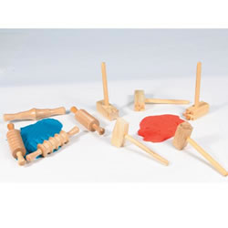 Clay or Dough Decorative Designs Hammers & Rollers
