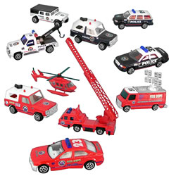 Safety Vehicles - Set of 10