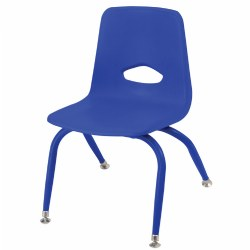 "Nature Color Tapered Leg Stackable 9 1/2"" Chairs"