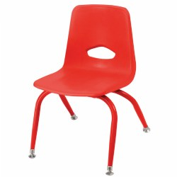 "Nature Color Tapered Leg Stackable 9 1/2"" Chair - Red"
