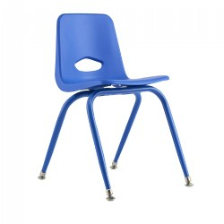 "Nature Color Tapered Leg Stackable 17 1/2"" Teacher Chairs"